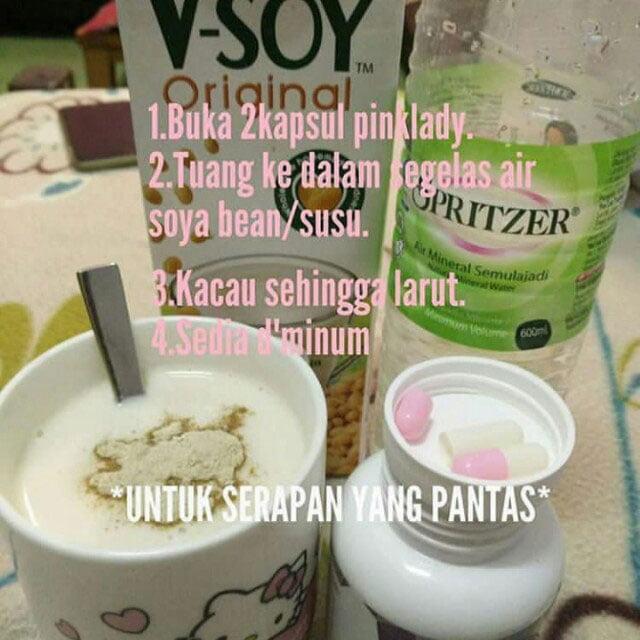 cara makan pink lady bersama susu soya