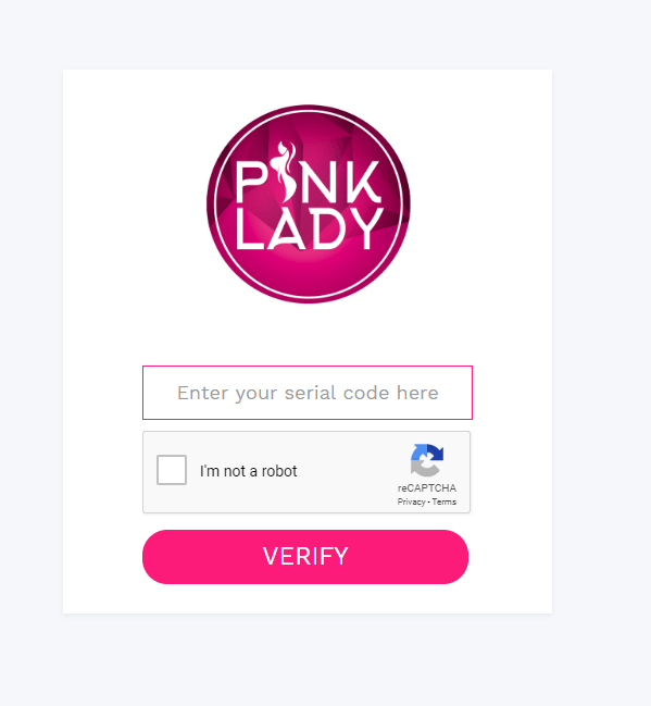 verify code pink lady original 1