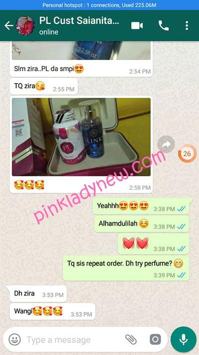 testimoni parcel pelanggan pink lady 4