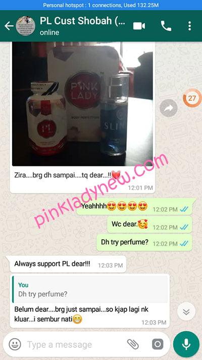 testimoni parcel pelanggan pink lady 5
